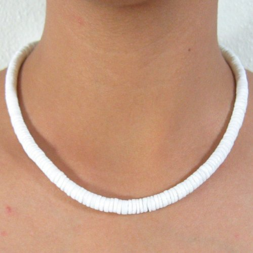 Shell Necklace Barrel Clasp 18 in Awesome